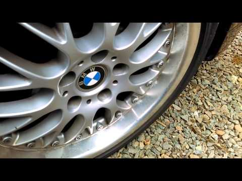 Restoring and polishing BMW aluminum rim