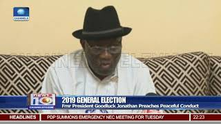 Goodluck Jonathan Preaches Peaceful Conduct Of 2019 Polls