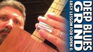 Deep Blues Grind - An Easy Cigar Box Guitar Lesson