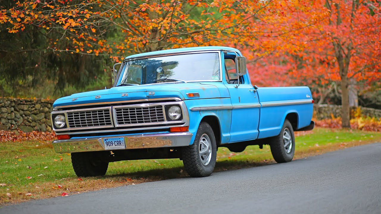 Ford F-100 pickup truck 1970 review - YouTube