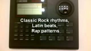 boss dr 550 mk ii dr rhythm drum machine demo manual