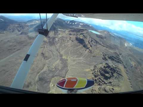 Tongariro Crossing by plane