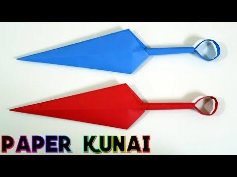 How to make a Paper Kunai Knife - (Naruto Kunai) | EASY | TUTORIAL