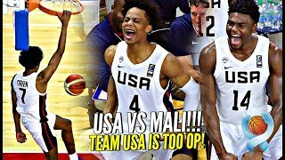 Jalen Green & Team USA TOO OP!! Absolutely DOMINATE vs Mali at FIBA World Cup! (U17s)