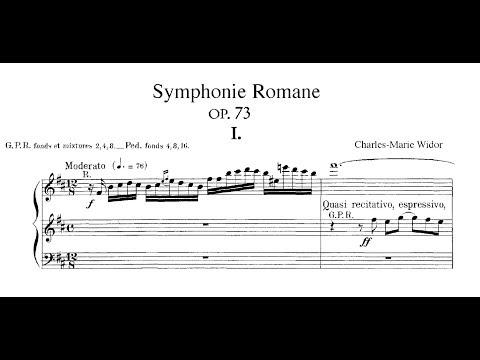 "WIDOR Organ Symphony #10, op. 73 ""Romane"""