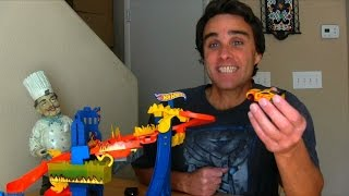 Hot Wheels Flame Fighters Color Changer Set Unboxing!    Toy Reviews    Konas2002