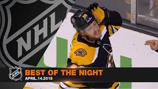 Pastrnak's six-point game steals Saturday night