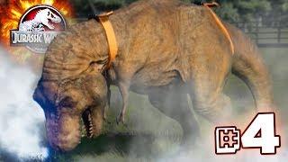 A T.REX OF A DISASTER!!! - Jurassic World Evolution - JURASSIC MODE   Ep4 HD