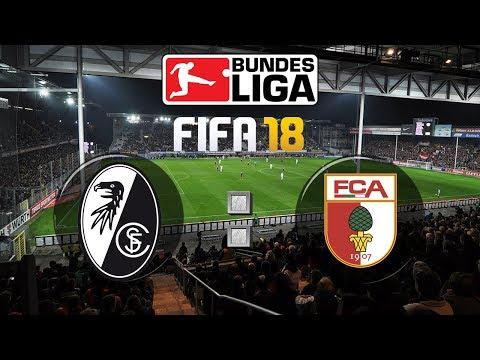 FIFA 18 Bundesliga Sport-Club Freiburg : FC Augsburg | Gameplay Deutsch Livestream