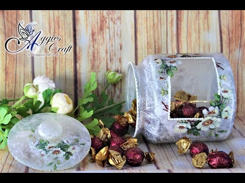 decoupage-tutorial---cookie-jar-with-rice-paper---mix-media