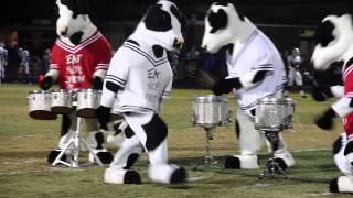 Chick Fil A Cows vs. North Gwinnett High School Marching Band Drum Line