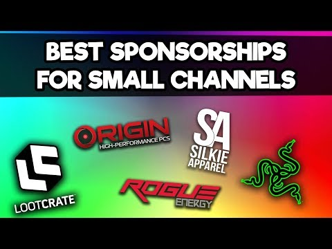 Best Sponsorships For Small Gaming YouTube Channels - 2018/2019