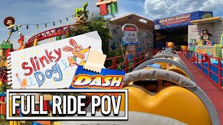 Slinky Dog Dash POV Roller Coaster Ride - Toy Story Land at Disney's Hollywood Studios