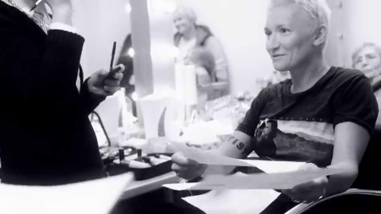 Диана Арбенина на съемках «Главной сцены»