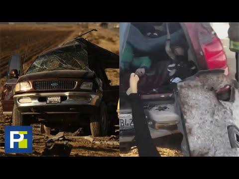 """""""Ayuda"""": el grito de una víctima del accidente en California"""