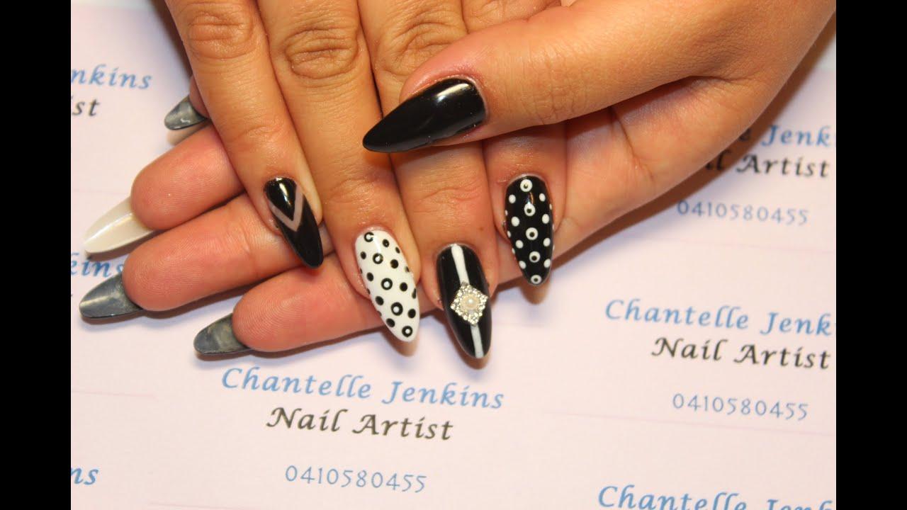 Monochrome Nails Nail Art Tutorial Youtube