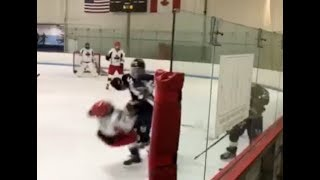High School Hockey Biggest Hits Part 3