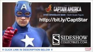 Captain America First Avenger Hot Toys Star Spangled Man Captain America 1/6 Scale Figure Review