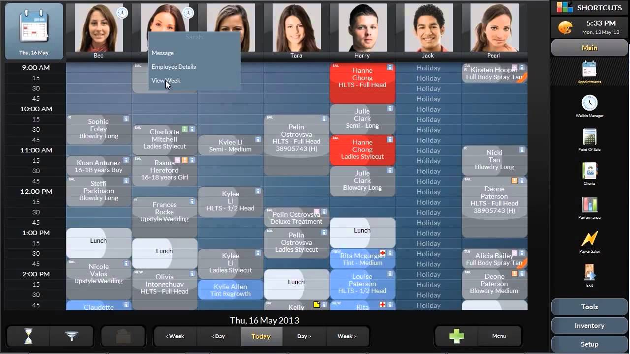 hairdressing appointment software