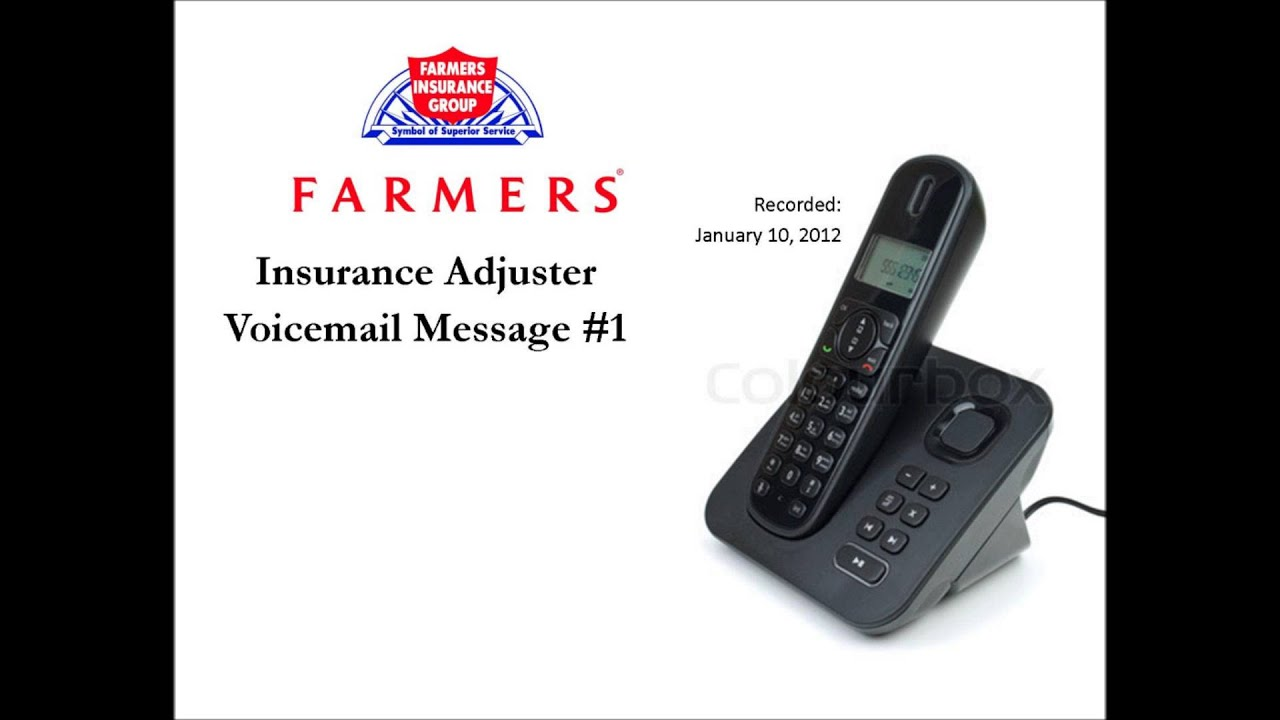 Insurance Adjuster Voicemail Message #1 - YouTube