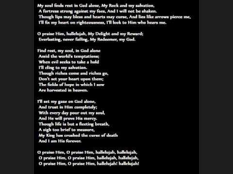PSALM 62 lyrics for AARON KEYES