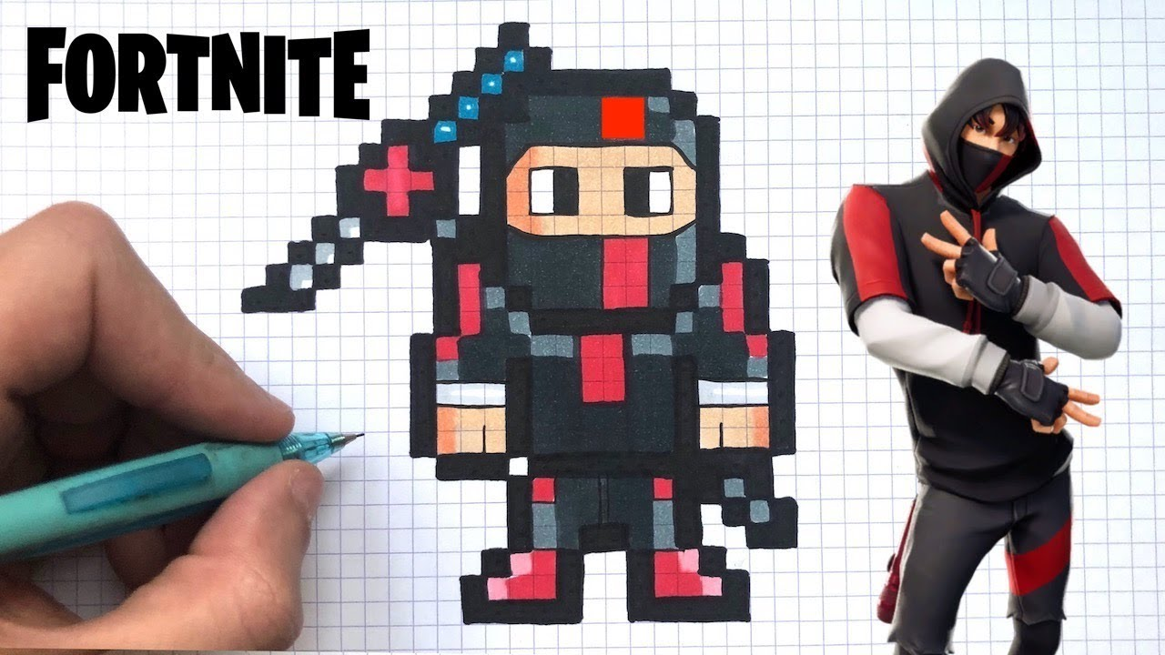Dessin Facile Ikonik Pixel Art Fortnite
