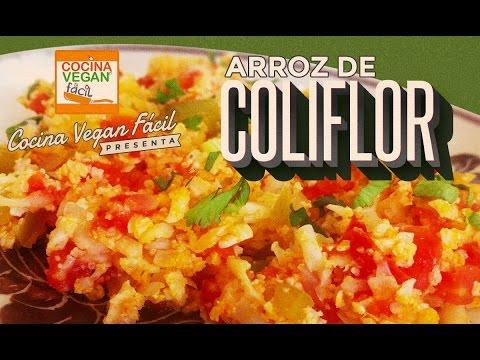 Arroz de coliflor  Cocina Vegan Fcil  YouTube