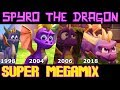 Spyro the Dragon - Super Megamix: 24x7 TV of Various Spyro Games! [Read Descr