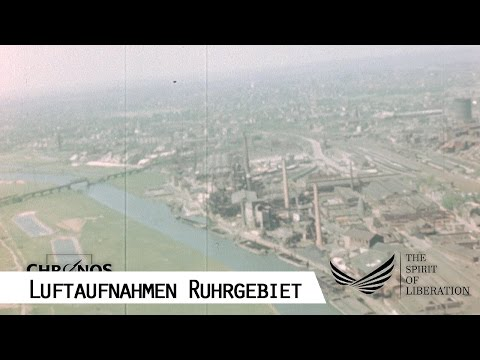Flight over the Ruhr area from Herne to Duisburg 1945 - Aerial Footage (SFP 186)