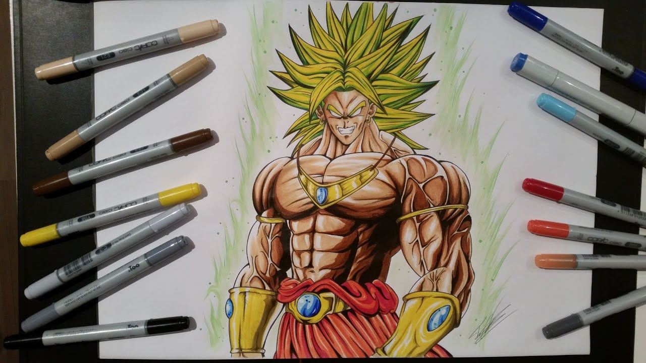 Drawing Broly The Legendary Super Saiyan Dragon Ball Z Youtube