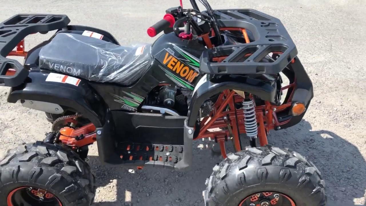 Riding Video - 125cc Venom Grizzly Gas Powered ATV Quad VTT 4 Wheeler -  1-855-984-1612