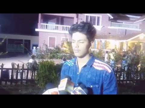 APNA SAMACHAR: Interview Of Actor Rishabh Kashyap Golu For Bhojpuri Movie Tridev Shooting