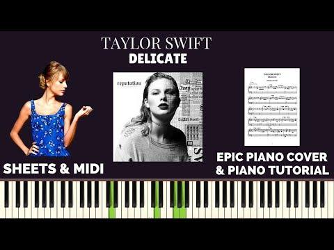 Taylor Swift - Delicate (Piano Cover & Tutorial)   Sachin Sen