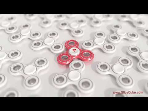 CGI Fidget Spinner model - Cool 3d animation