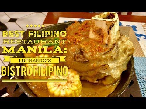 2018 Best Filipino Restaurant Manila: Lutgardo's Bistro Filipino Beacon Makati