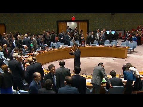 UN ambassadors clash over Syria, Russia accuses UK of staging attack