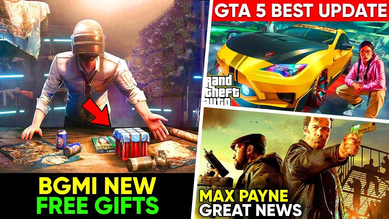BGMI *FREE* Gift, GTA 5's BEST Update, Battlefield 5 & BF1 FREE, Max Payne GREAT NEWS | Gaming News