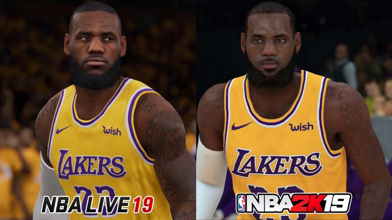 NBA 2K19 vs NBA Live 19 Graphics Comparison!