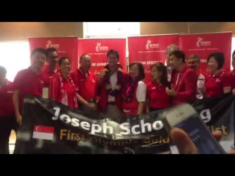 Welcome home Joseph Schooling!