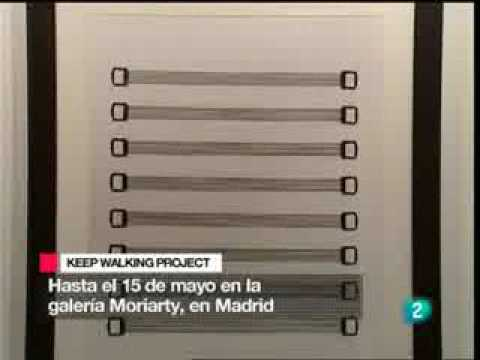 Chema Madoz y Leonardo gutierrez en noticias TVE2 Keep Walking Project