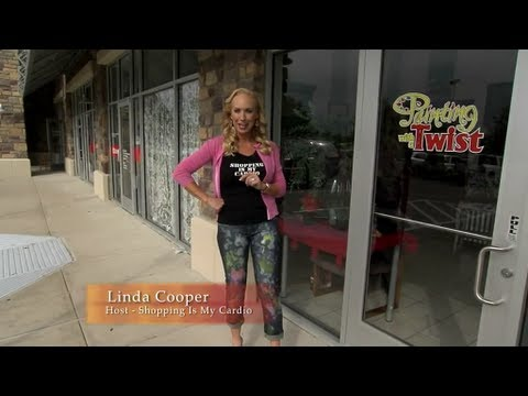 Linda Cooper features Painting With A Twist on Shopping Is My Cardio