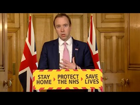 Watch again: Matt Hancock delivers daily coronavirus update as Boris Johnson returns to work
