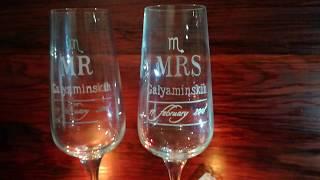 Свадебные бокалы именные с гравировкой