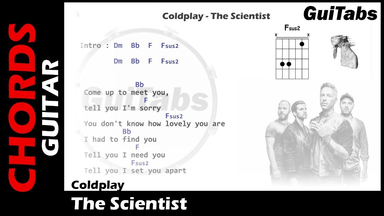 Coldplay The Scientist Lyrics And Guitar Chords Youtube