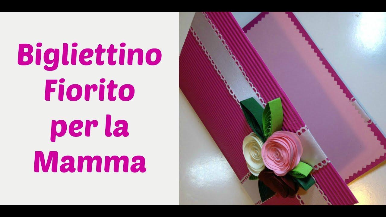spesso Biglietto Fiorito Rose di Carta -Flower card (Festa della mamma  EC28