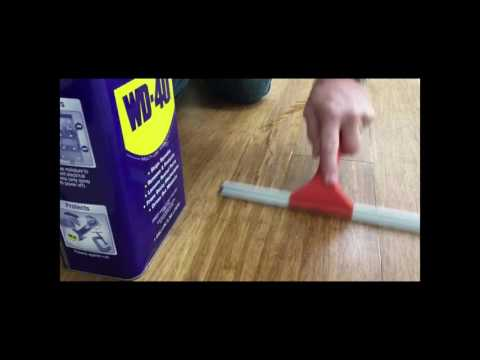 Fix your squeaky floors with WD-40!