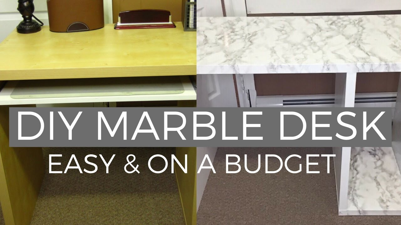 DIY Marble Desk Makeover | Affordable & Easy (IKEA HACK)