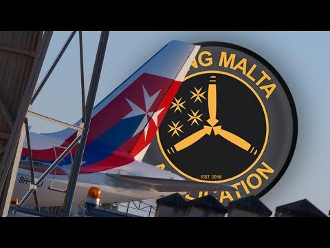 9H-AEI Air Malta Retro Jet Delivery