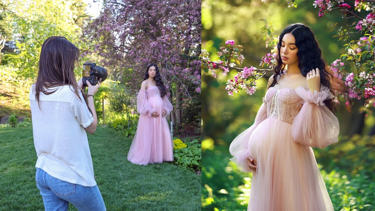 Maternity Photoshoot Natural Light and Home Studio, Behind the Scenes