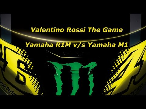 Valentino Rossi The Game-  Yamaha M1 up against its baby brother!